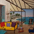 Veranda in Kailua - Image Size : 29x36 Inches