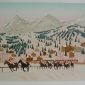 Horse Racing in St. Moritz - Image Size : 20x26 Inches