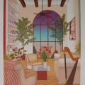 Interior with Harp - Image Size : 20x26 Inches