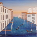 Canal with Salute - Image Size : 15x18 Inches