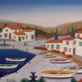 Harbor in Catalogna - Image Size : 13x16 Inches