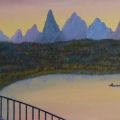 Sunset in Far East - Image Size : 8x24 Inches