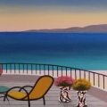 Terrace on Esterel - Image Size : 8x24 Inches