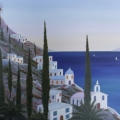 Village in Rhodes - Image Size : 15x18 Inches