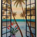 Window on Lagoon - Image Size : 22x28 Inches