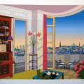 Breakfast in Paris  - Image Size : 14x17 Inches