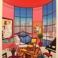 Interior with Lichtenstein - Image Size : 18x21 Inches