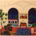 Interior with Salvador Dali - Image Size : 23x37 Inches