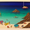 Malaga Beach - Image Size : 13x38 Inches