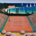Monte Carlo Tennis Club - Image Size : 18x22 Inches
