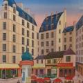Place St. André des Arts - Image Size : 22x28 Inches