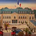 Vue Sur l'Elysée - Image Size : 24x29 Inches