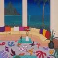 Evening  in Bora Bora - Image Size 16x32 Inches