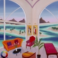 Interior with Bellet - Image Size : 80x80 Inches