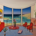 Interior with Francis Bacon - Image Size : 22x32 Inches