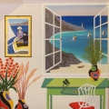 Interior with Mary Cassat - Image Size : 20x20 Inches