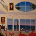 Interior with Picasso and Tarkay - Image Size : 24x24 Inches