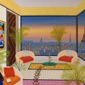 Overlooking Paris Roofs - Image Size : 24x29 Inches