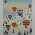 Ballooning in the Alps - Image Size : 24x18 Inches