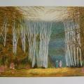 L' Allée des Bouleaux - Image Size : 20x25 Inches