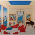 Interior with 4 Picasso - Image Size : 30x46 Inches