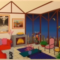 Interior with Salvador and Nikki - Image Size : 23x27 Inches